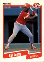 1990 Ken Griffey Fleer Baseball Card #420