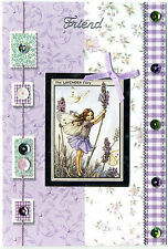'Friend Flower Fairy' Greeting Card (Handcrafted Design with Free Options)