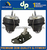 VOLVO S80 Front + Rear + Lower Right  Engine Motor Mount Mounts Kit - Set of 3