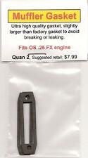OS .25 FX Exhaust/Muffler Gasket 2 Pack NIP