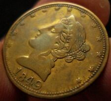 1849 California $5 Gold Counter R-9  RARITY