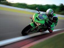 Kawasaki ZX 6R  Motorbike Poster Print A4