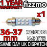 36mm NUMBER PLATE INTERIOR LIGHT 4 LED 239 272 C5W C10W XENON WHITE FESTOON BULB