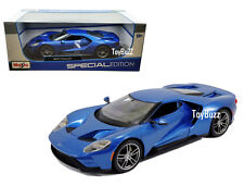 MAISTO 1:18 FORD GT 2017 DETROIT AUTO SHOW DEBUT SUPERCAR BLUE 31384 NEW