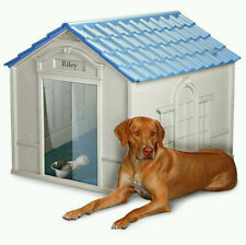 New listing Deluxe Extra Large Pet Dog House Home Outdoor Durable Resin All Weather Kennel