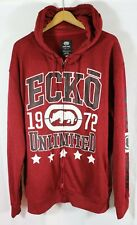 Ecko Unlimited Men's 1972 Graphic Long Sleeve Full Zip Hoodie 2XL Red NWT