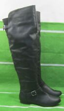 new ladies Black Flat Long  round roe Sexy Over Knee Boots Size 8.5