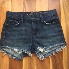 7 for all mankind High Waist Denim Cut Off Shorts, size 26