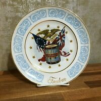 1974 Freedom Collector Plate Enoch Wedgwood Tunstall England. Vtg Avon [a-16]