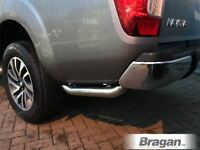 To Fit 2016+ Nissan Navara NP300 Stainless Steel Side Rear Quarter Bars