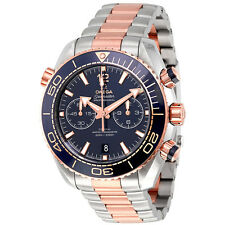 Omega Seamaster Planet Ocean Chronograph Sedna Gold Automatic Mens Watch 215.20.