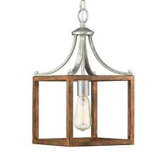 Home Decorators Boswell Quarter 1-Light Galvanized Mini-Pendant