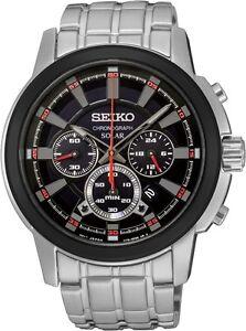 Seiko SSC389 SSC389P9 Mens Solar Chronograph Watch black NEW RRP $699.00
