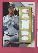 ROBINSON CANO 2016 TRIPLE THREADS Game Used Jersey GU MARINERS SER #d 24/27