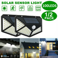 4Pcs 100LED Solar Wall Light PIR Motion Sensor Outdoor Garden Yard Street  J