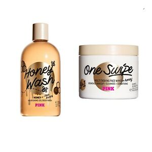 Victoria's Secret PINK Honey Wash Nourishing Gel Body Wash and Face Wipes
