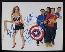 Big Bang Theory photo signed by 5 CUOCO, GALECKI, PARSONS, HELBERG, NAYYAR. COA