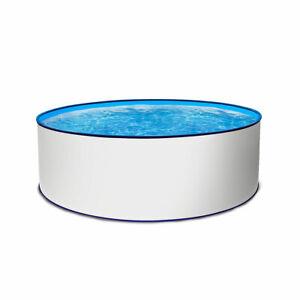Stahlwandpool rund 300x120cm Folie blau 0,8 mm Einzelbecken Schwimmbecken Pool