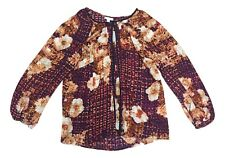 Charter Club 3X Multi Color Red Blue Rose Floral Long Sleeve Button Down Blouse