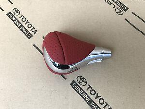 Toyota Lexus IS-F GS Schalthebelknopf Schaltknauf Knopf Shift Knob Leder & Chrom