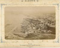 Algérie, Oran, Vue générale prise de la Vierge d Santa-Cruz Vintage Albumen Prin