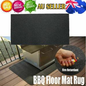 Fireproof Heat Resistant BBQ Gas Grill Splatter Mat Backyard Floor Protective AU