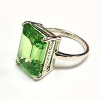 TIFFANY & CO Sparklers Cocktail Green Quartz Ring Sterling Silver .925