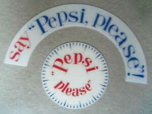 Say Pepsi Please Marquee Insert and Pepsi Please Dial For Cleveland Neon Clock