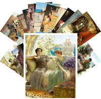 Postcards Pack [24 cards] Vintage Roman and Greek Life Scenes by L Alma CC1135