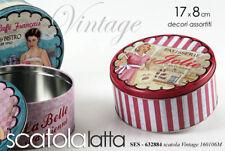 SCATOLA CONTENITORE 17*8CM BARATTOLO LATTA BISCOTTI VINTAGE NOSTALGIA SES 632884