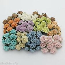 50 Mulberry Paper Flowers Wedding Headpiece Scrapbook Cards Basket Roses ZR8-426