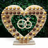 Wooden Heart Ferrero Rocher Chocolate Sweet Candy Stand Wedding Table Decor