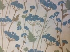 Heavy Weight Cotton Blue Flowers fabric by the half metre