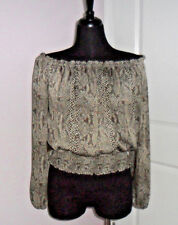 FOREVER 21 Women's Animal Print,S-M,Polyester,3/4Sleeve,Blouse,Exclusive Decor