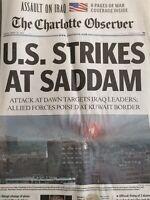U.S. Strikes at Saddam 2003 Iraq War The Charlotte Observer March 20, 2003