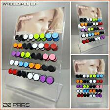 WHOLESALE LOT Fake Earring Stud Barbell Ear Plug Earlet Gauges Display 20 Pairs