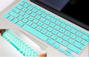 "Turquoise Keyboard Protector Case Cover For Macbook Pro 13"" A1278/ 15"" A1286"
