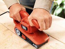 Black Decker Power Belt Sander Electric Heavy Duty Wood Sanding Tool w/ Dust Bag