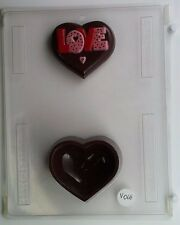 LOVE HEART POUR BOX CLEAR PLASTIC CHOCOLATE CANDY MOLD V068