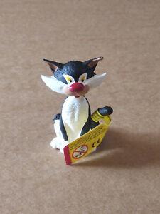 FIGURINE GASTON LAGAFFE , Le chat assis , ( Plastoy )