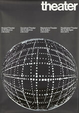 Original Vintage Poster Chicago Theater 60's Giulio Cittato