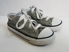 Converse Boys Girls Sneakers Sz 8 Kids All Star Chuck Taylor Low Gray