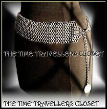 BNWT Stella McCartney H&M 2005 Tarnished Silver Metal Chain Mail Link Belt M/L