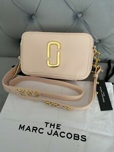 NWT Marc Jacobs The Softshot 21 Leather Crossbody Bag - Pink Tutu