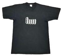 Vintage Gouge Tee Black Size L Mens 90s Single StitchT Shirt Distressed