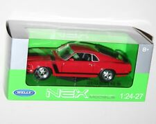 Welly - FORD MUSTANG BOSS 302 (1970) Red - Die Cast Model Scale 1:24