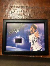 Justin Bieber Signed Photo Senitype Never Say Never Golden Ticket Autographed