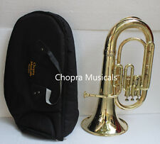 Best  Euphonium (Tuba) Shinning Brass Bb FLAT 3V M/ PIECE & Bag Fast Ship
