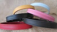 Leather dog collars, plain, 14inches to 26inches long.
