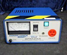Compliance West GFM-25A Suelo Alta Probador (25A, 3V, 50/60Hz )
